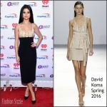 Selena Gomez In David Koma  At  Q102's Jingle Ball 2015