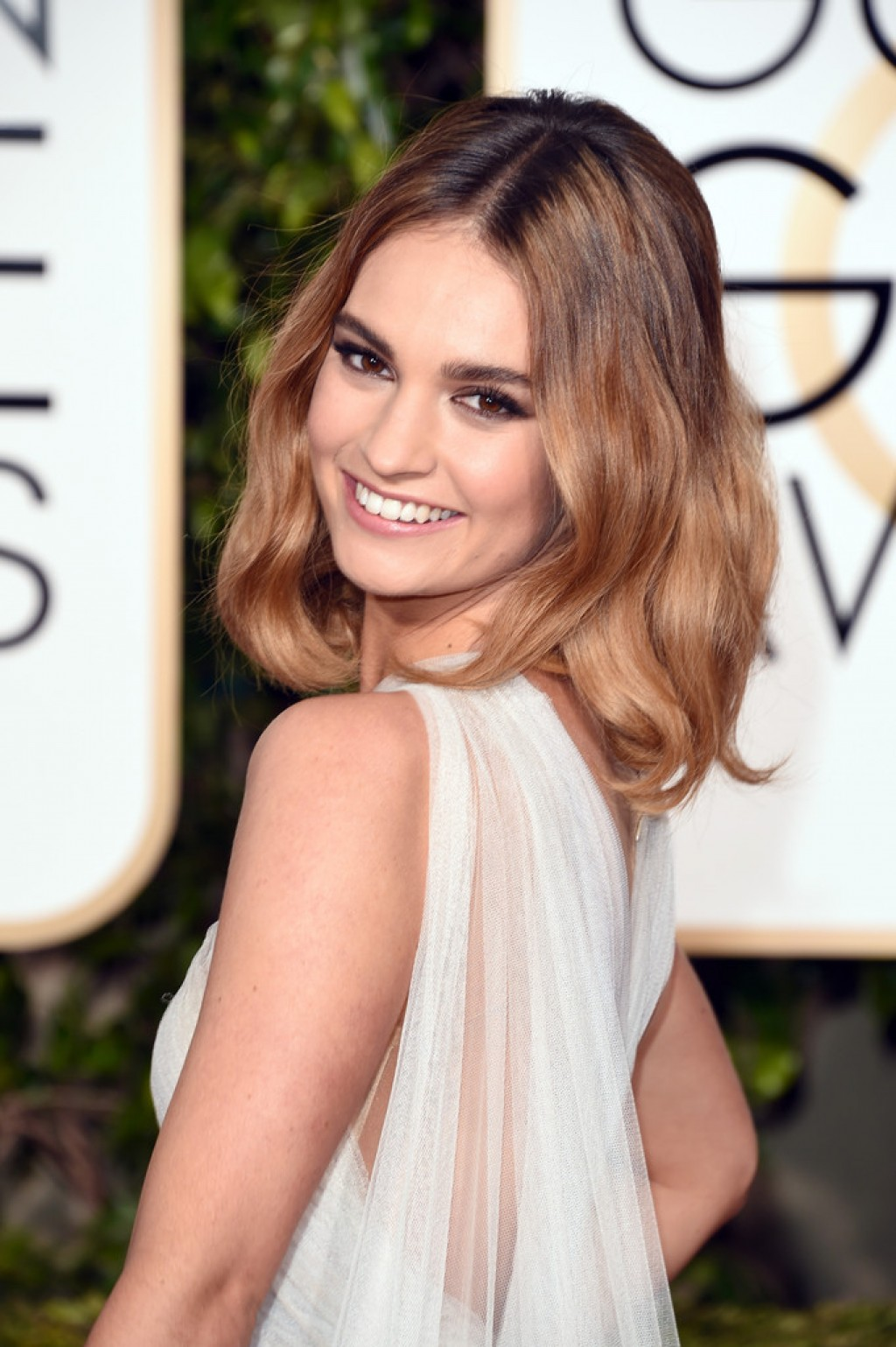 Lily James In Marchesa...