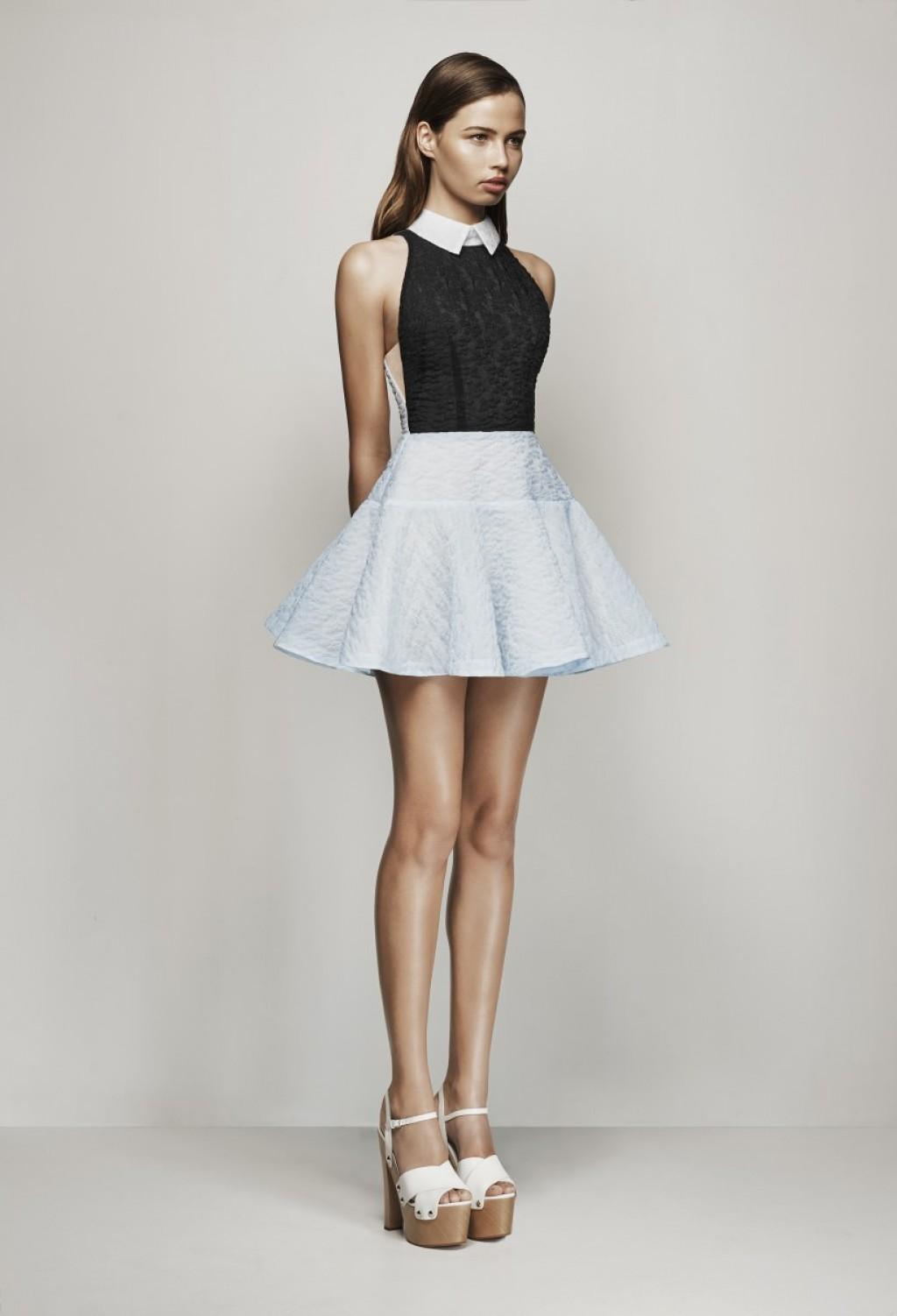 White mini cocktail dress