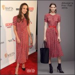 Alicia Vikander  In  Altuzarra –  BAFTA Los Angeles Awards Season Tea