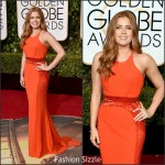 Amy Adams  In  Versace – 2016 Golden Globe Awards
