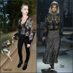 Cara Delevingne In Chanel  – Chanel Haute Couture Spring Summer 2016 Fashion  Paris Show