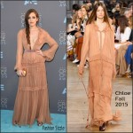 Carly Chaikin In Chloe –  2016 Critics Choice Awards
