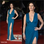 Catherine Zeta-Jones in Elie Saab at the Dad`s Army London Premiere