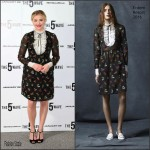Chloe Moretz in Erdem – 'The 5th Wave' London Photocall