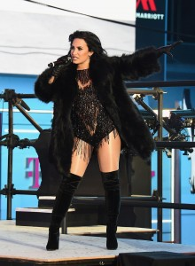 Demi Lovato Performing in Times Square, NY – New Year's Rockin' Eve