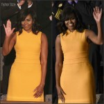 First Lady Michelle Obama In Narciso Rodriguez At Final State Of The Union