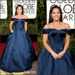 Gina Rodriguez  In Zac Posen – 2016 Golden Globe Awards