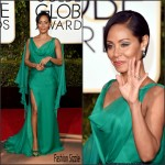 Jada Pinkett Smith In Versace – 2016 Golden Globe Awards