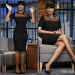 Jennifer Hudson in Mugler – Late Night with Seth Meyers Show