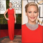 Jennifer Lawrence  In Christian Dior Couture – 2016 Golden Globe Awards