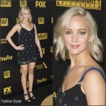 Jennifer Lawrence  In Versace – Fox And FX's 2016 Golden Globe Awards Party