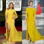 Jennifer Lopez in Giambattista Valli Couture at the 2016 Golden Globe Awards