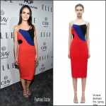 Jordana Brewster In  Victoria Beckham – ELLE's Annual Women In Television Dinner