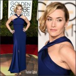 Kate Winslet  In  Ralph Lauren – 2016 Golden Globe Awards