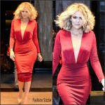Khloe Kardashian   in red hot dress-  'Live With Kelly And Michael'
