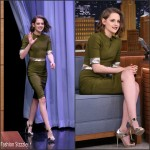 Kristen Stewart   in Mugler -'The Tonight Show Starring Jimmy Fallon' in New York