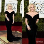Lady Gaga In Atelier Versace – 2016 Golden Globes Awards