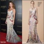 Lily James in Alexander McQueen – 'Pride And Prejudice And Zombies' LA Premiere
