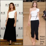 Lily James in Roland Mouret -War and Peace 2016 Winter TCA Tour Panel – Day 2