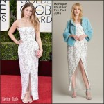 Melissa Benoist In  Monique  Lhuillier  – 2016 Golden Globe Awards
