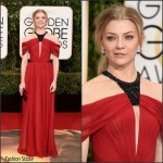 Natalie Dormer  In J Mendel – 2016 Golden Globe Awards