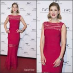 "Rosamund Pike In Azzedine Alaia  –  IWC ""Come Fly With Us"" Gala Dinner"