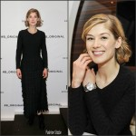 Rosamund Pike in Azzedine Alaia  –  Pilot's Watches Novelties Launch