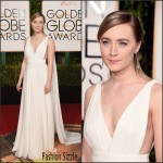 Saoirse Ronan  In Saint Laurent – 2016 Golden Globe Awards