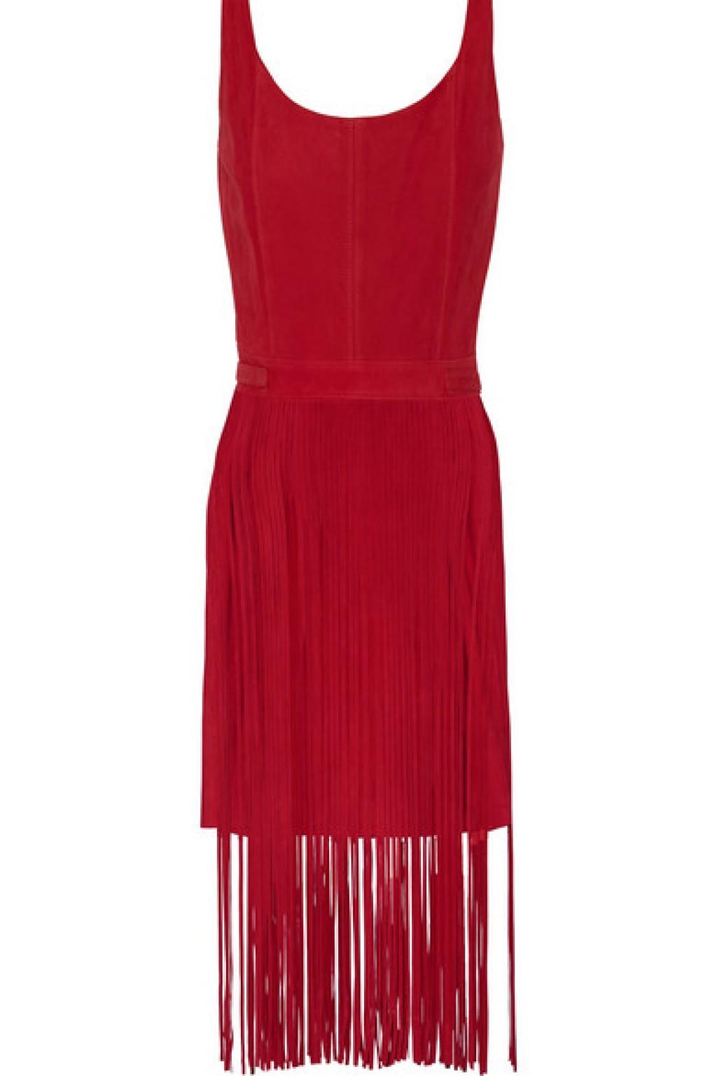 tamara-mellon-red-suede-sleeveless-suede-fringe-dress-main-1024x1536