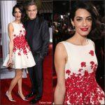 Amal Clooney in Giambattista Valli Couture – Hail Caesar LA Premiere
