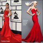 Ariana Grande In Romona Keveza – 2016 Grammys