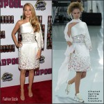 Blake Lively  in Chanel  Couture –  Deadpool New York  Fan Event