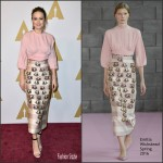 Brie Larson In  Emilia Wickstead – Academy Awards 2016 Nominee Luncheon in Beverly Hills