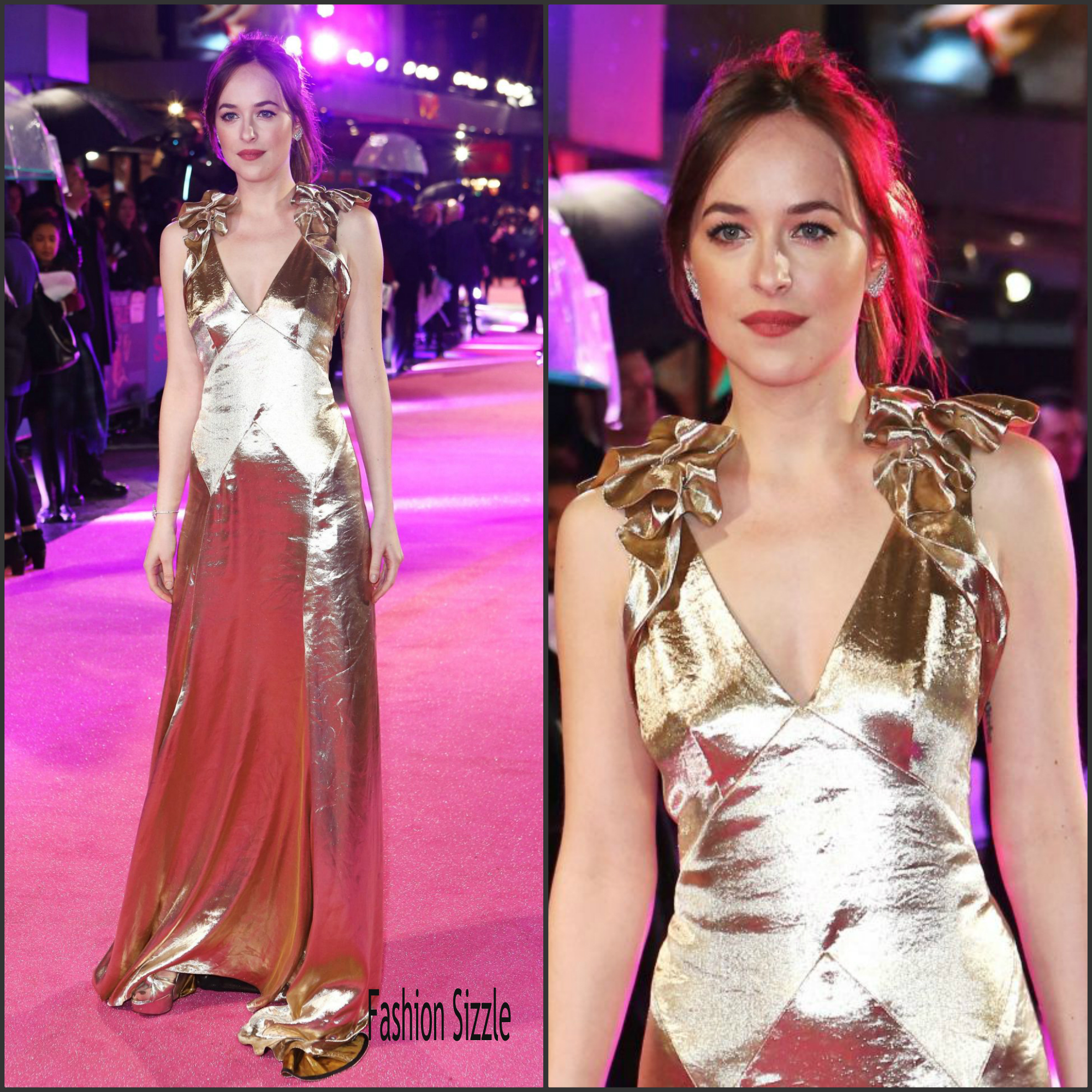 Dakota Johnson In Marc Jacobs €� 'how To Be Single' Premiere In London