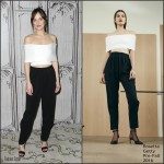 Dakota Johnson in Rosetta Getty at the AOL Build Series Presents: 'How To Be Single'
