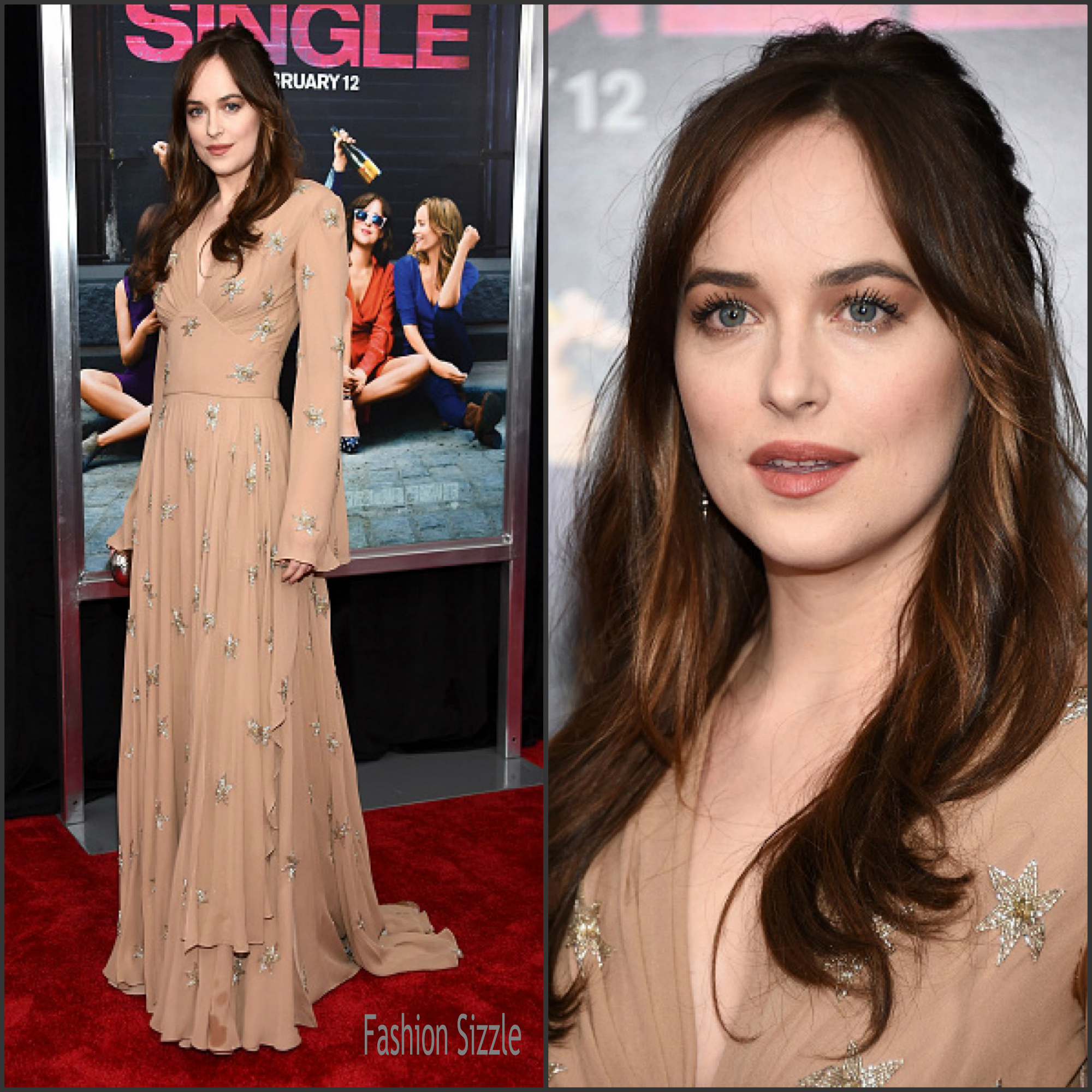 Dakota Johnson In Saint Laurent €� 'how To Be Single' New York Premiere
