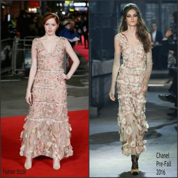 ellie-bamber-in-chanel-pride-prejudice-and-zombies-london-premiere