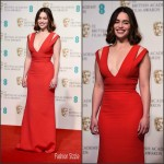 Emilia Clarke  In  Victoria Beckham – 2016 EE British Academy Film Awards
