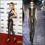 Gigi Hadid in Julien Macdonald– Sports Illustrated Swimsuit 2016 New York Press Event