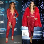 Jennifer Lopez  In  Zuhair Murad  – 'American Idol XV' Finalists Party in West Hollywood