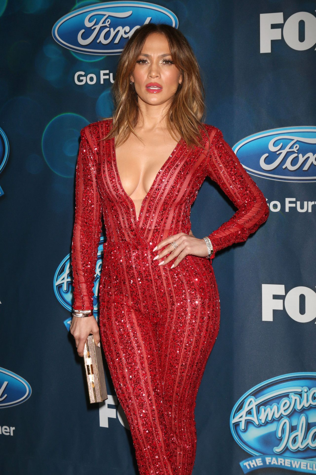 Jennifer Lopez In Zuhair Murad American Idol Xv Finalists Party In West Hollywood