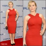 Kate Winslet in Roland Mouret  – Triple 9 London Screening