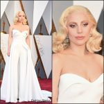 Lady Gaga in Brandon Maxwell –  Oscars 2016 In Hollywood