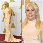 Lady Gaga  In Christian  Siriano – Academy Awards 2016 Nominee Luncheon in Beverly Hills
