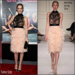 Leslie Mann In Marchesa – 'How To Be Single' New York Premiere