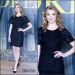 Natalie Dormer in Blumarine at 'The Forest' London Photocall