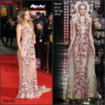Suki Waterhouse in Reem Acra  – Pride and Prejudice and Zombies London Premiere