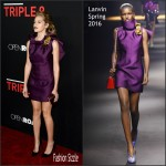 Teresa Palmer  In  Lanvin – Triple 9  Los Angeles Premiere