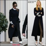 Victoria Beckham in Victoria Beckham-Leaving her store in London